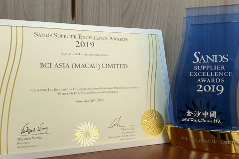 Sands China Supplier Excellence Award_BCI Worldwide